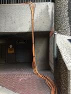 Orange Cables go down the 02 Car Park